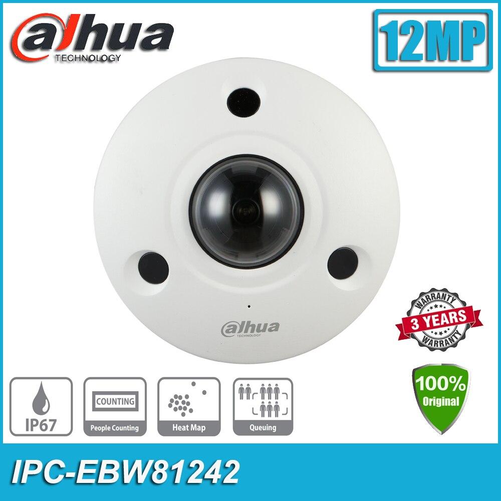 Оригинал Dahua IPC-EBW81242 12MP POE IP67 IK10 панорамный сети IP CCTV инфракрасный широкоугольный Камера Встроенный микрофон EBW81242
