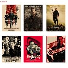 Quentin Tarantino director film shameless bastard / kraft poster / movie poster / retro poster / bedroom cafe decoration цена и фото