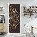 Adesivo de parede mt031 de budismo, mandala para porta, adesivo de vidro chu chuang, reformado criativo