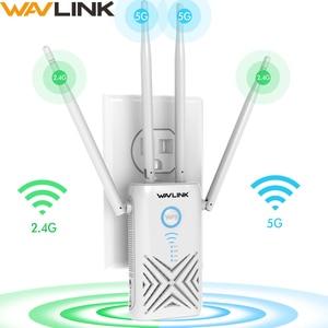 Image 1 - 】Wavlinkフルギガビット 1200 300mbpsの無線lanリピータエクステンダー/アンプ/ルータ/アクセスポイントワイヤレスデュアルバンド 2.4 グラム/5 グラム 4x5dBiアンテナ