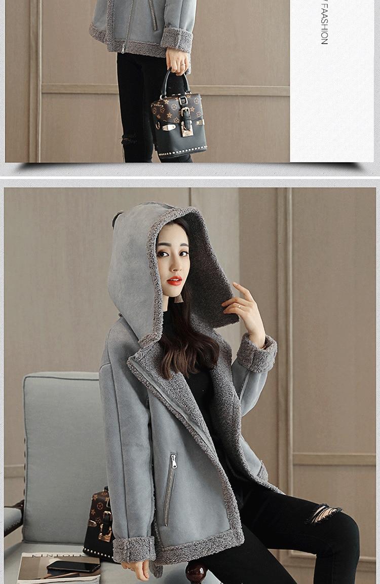 quente camurça jaqueta mulher casaco senhoras blusão oversized