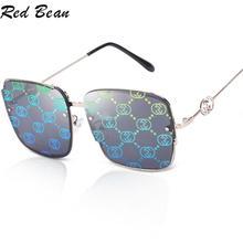 Очки солнцезащитные женские в винтажном стиле, брендовые квадратные, с градиентом, большие, UV400