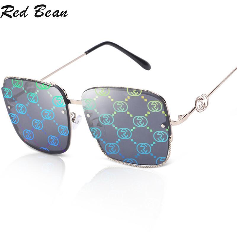 Design marca praça óculos de sol feminino gradiente de grandes dimensões óculos de sol para senhoras vintage feminino uv400 Óculos de sol    -