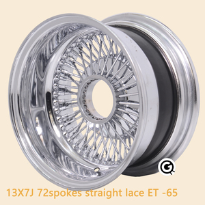 13inch wire wheel 72spoke REV reverse straight lace chrome 5holes 5x114.3/120/127