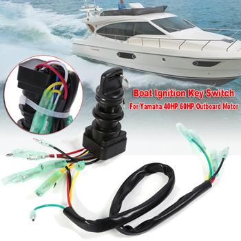 Universal Boat Ignition Key Switch Assembly For Yamaha 40HP 60HP Outboard Motor Replace 703-82510-42-00/703-82510-43-00 Marine new 37100 96j14 dual ignition key switch panel for suzuki df100a 115a marine outboard