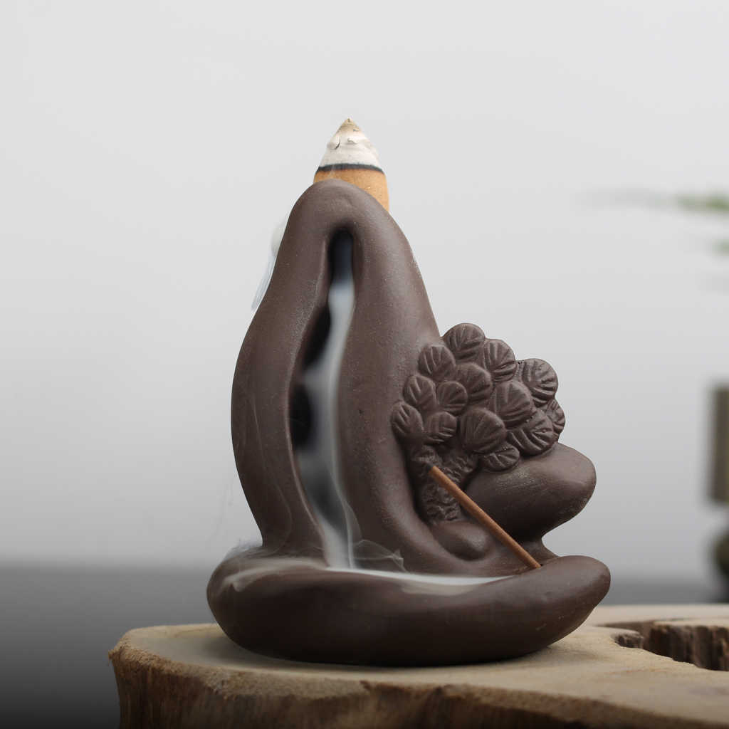 السيراميك الخزف Backflow البخور عصا المخاريط حامل البخور مبخرة البوذية المنزل فندق مكتب العطر الهواء أعذب