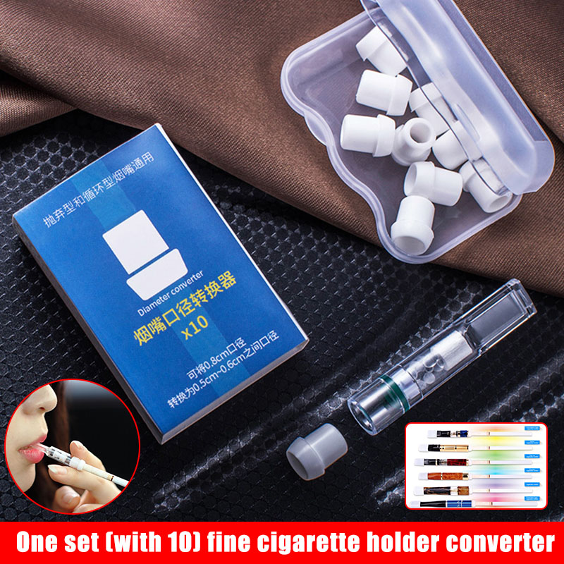 1 Set Disposable Tobacco Cigarettes Filter Thin Holder Dustproof Tube Mouthpiece PUO88
