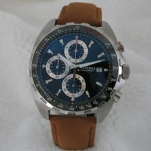 Горячая Распродажа, спортивные мужские часы, кварцевые японские VK часы с хронографом, керамический ободок, стальной чехол, мужские наручные часы A116