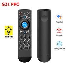 G21 Pro Giroscopio Intelligente di Voce di Controllo Remoto di Apprendimento IR 2.4G Wireless Fly Air Mouse per X96 Mini H96 MAX x99 Android TV Box vs G21