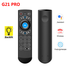 G21 Pro Gyro akıllı ses uzaktan kumanda IR öğrenme 2.4G kablosuz Fly hava fare X96 Mini H96 MAX x99 Android TV kutusu vs G21