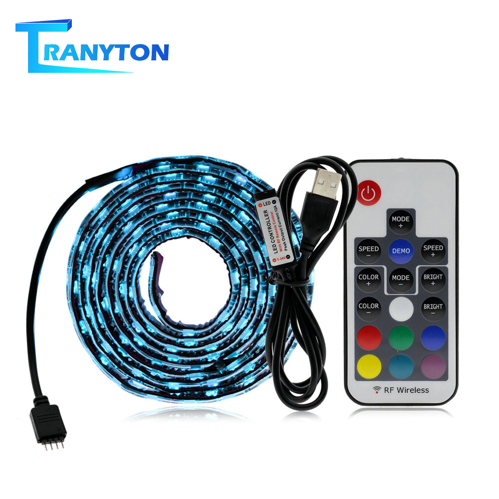 <font><b>USB</b></font> LED Strip <font><b>5050</b></font> RGB Changeable 5V Waterproof / No Waterproof 0.5m 1m 2m with <font><b>USB</b></font> Controller Set DIY TV Decoration LED Light. image