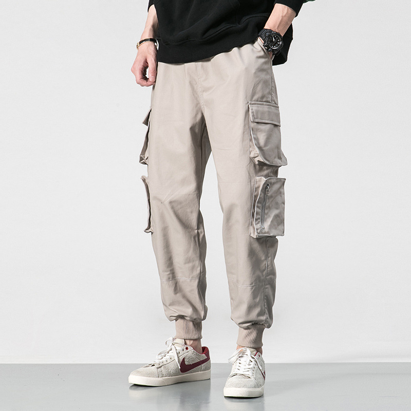2019 Autumn And Winter New Style Men Pure Cotton Casual Pants Fashion City Europe And America Popular Brand Large Size Loose Har