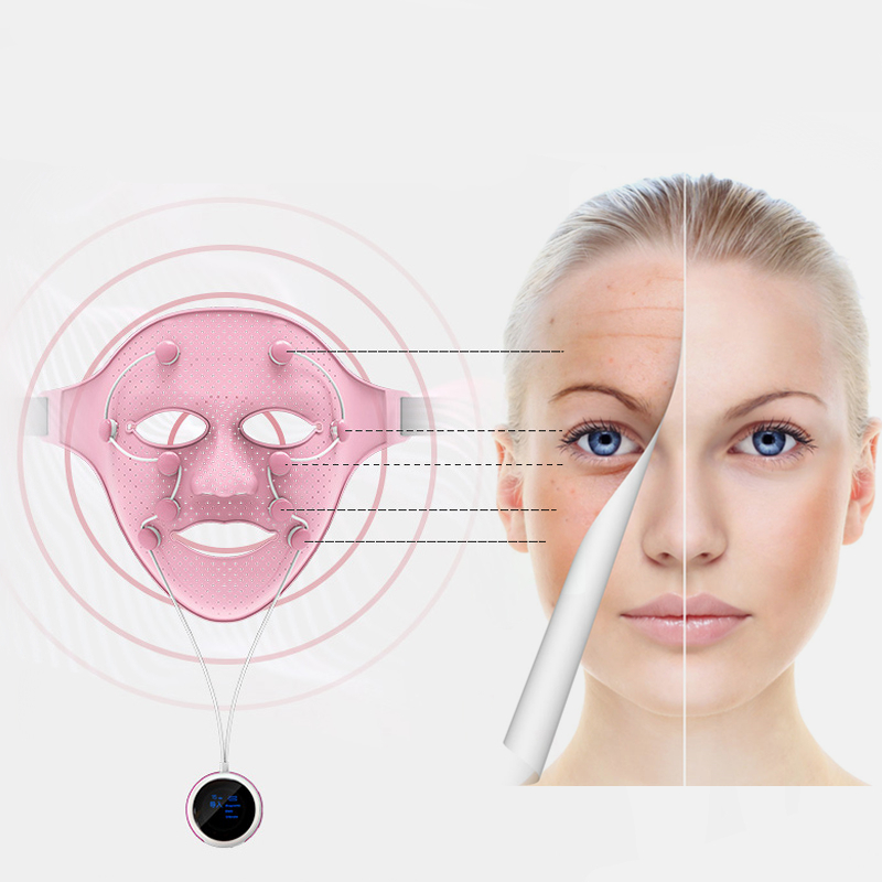 3D Silicone Facial Mask Electric EMS Vibration Face Massager Skin Rejuvenation Face Care Treatment Beauty Anti age Beauty Spa-in Face Skin Care Tools from Beauty & Health