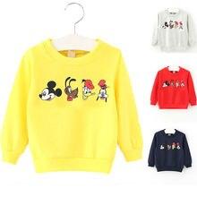 Shirt Baby-Girl Kids Cartoon Long-Sleeve Print 0-2 Candy-Color Autumn Cute Summer