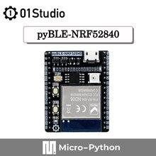 01 estúdio pyBLE-NRF52840 módulo bluetooth desenvolvimento demonstração placa de consumo de baixa potência micropython circuitos iot sem fio