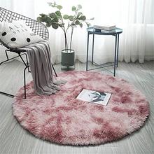 Różowy okrągły dywan Nordic ins stylowe kolorowe dywaniki do salonu dywaniki do sypialni maty futrzane duży rozmiar wiszący kosz Mat tanie tanio Nowoczesne Maszyna wykonana ROUND Domu Hotel Sypialnia Dekoracyjne Wilton Pranie ręczne Mechanicznej wash YM-012 Modern