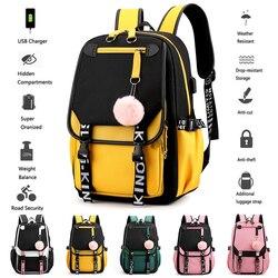 BPZMD enfants école sac à dos pour filles Style coréen noir rose mignon sac à dos cartable Kawaii sacs à dos pour adolescentes cadeau