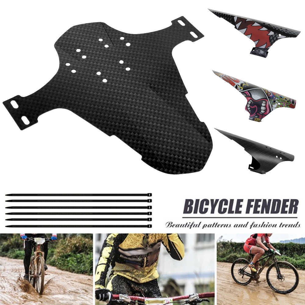Mountain Bike Cycling Mudguards Bicycle Fender Tires Rear Cover Plastic Decor