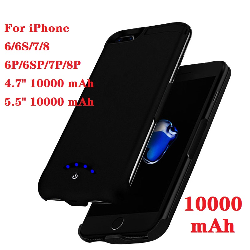Hot 10000mAh Slim Ultra Thin Battery Charger Case For IPhone 8 7 6 S 6 S Plus Power Bank Backup Charger Case For Iphone 6 6s 7 8