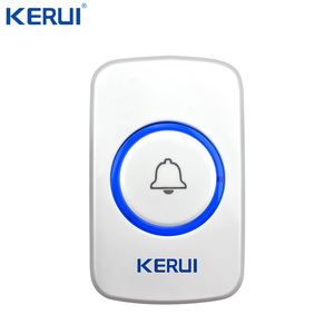 Image 3 - Kerui Wireless Doorbell System 32 Songs Optional Doorbell Transmitter Chime Welcome Security Alarm System Build in Antenna