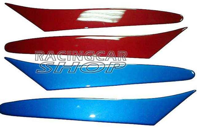 UNPAINTED HEADLIGHT EYELIDS EYEBROWS for MAZDA RX-8 RX8 SE3P  2004-2010 T041EF 6