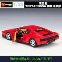 Bimeigao 1: 24 Ferrari Testarossa Twista Rosa Legierung Auto Modell