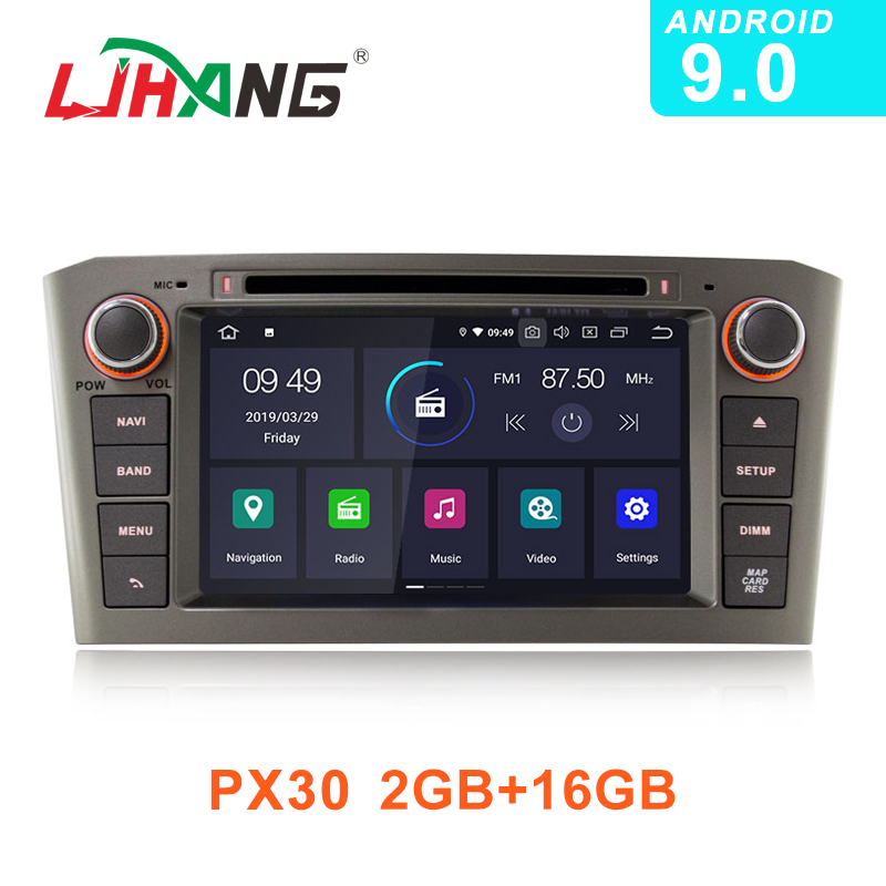 LJHANG 2 Din Android 9 0 Car DVD Player For Toyota AVENSIS 2005 2006 2007 Multimedia