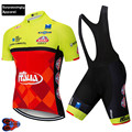 2019 ITALIA Team Summer Pro Sporting Racing UCI World Tour Pro Cycling Jersey Bike Shorts Set 9D Gel Ropa Ciclismo Bicycle Wear