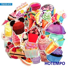 70pcs Ice Cream Drinks  Cupcake Stickers for Girl Kids DIY Letter Diary Scrapbooking Stationery Pegatinas Mobile Phone Laptop