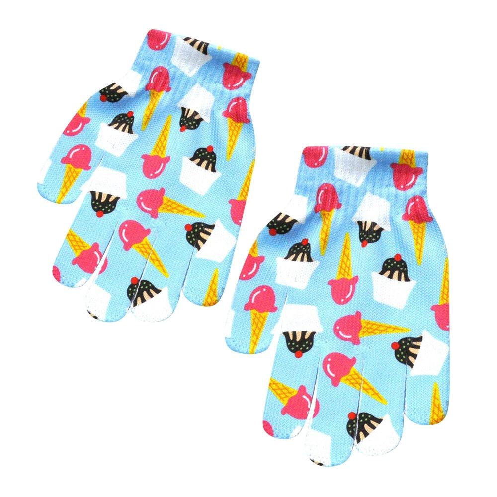 Модные Детские Зимние перчатки для девочек и мальчиков с милым 3D-принтом, теплые женские перчатки для улицы, женские зимние теплые перчатки для мобильного телефона - Цвет: F