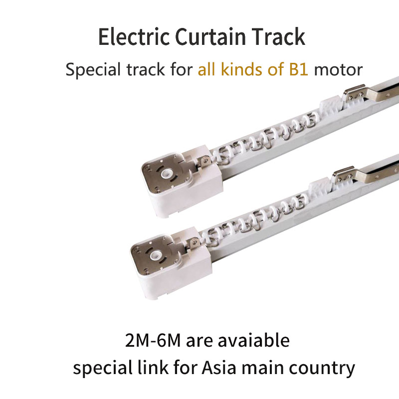 Electric Curtain Track For All Kinds Of  B1 Motor Customizable Super Quite For Smart Home For Asial Country