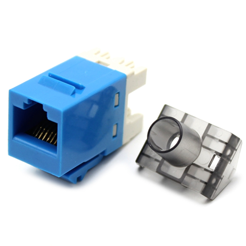 HOT-50Pcs Gigabit CAT6 UTP RJ45 Connector CAT6 Module Information Socket Computer Outlet Network Cable Adapter Keystone Jack