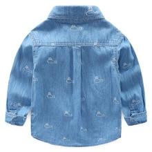 Рубашка из чистого хлопка для мальчиков г. Повседневная Весенняя Детская рубашка из чистого хлопка мягкая рубашка из чистого хлопка для маленьких мальчиков класса А 9629