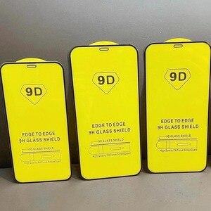 Image 3 - 10 Stuks \ Veel 9D Volledige Lijm Gebogen Gehard Glas Beschermende Voor Iphone 6 6S 7 8 Plus X xr Xs 11 12 Pro Max Mini Screen Protector