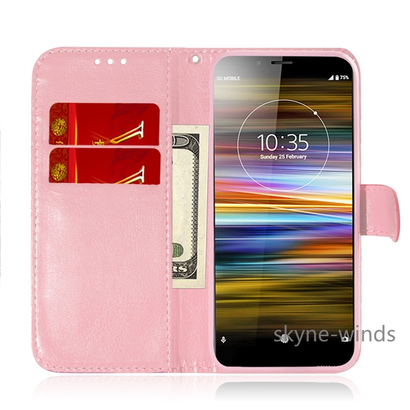 Flip Cover Phone <font><b>Case</b></font> For Soni <font><b>Experia</b></font> <font><b>L3</b></font> XZ3 1 10 Plus Leather <font><b>Case</b></font> For Coque <font><b>Sony</b></font> Xperia 1 Shockproof Wallet Book Cover image