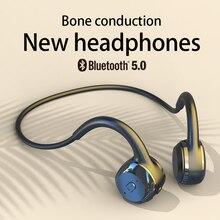 Para xiaomi huawei apple condução óssea fone de ouvido sem fio bluetooth estéreo à prova dwaterproof água áudio mp3 com microfone música