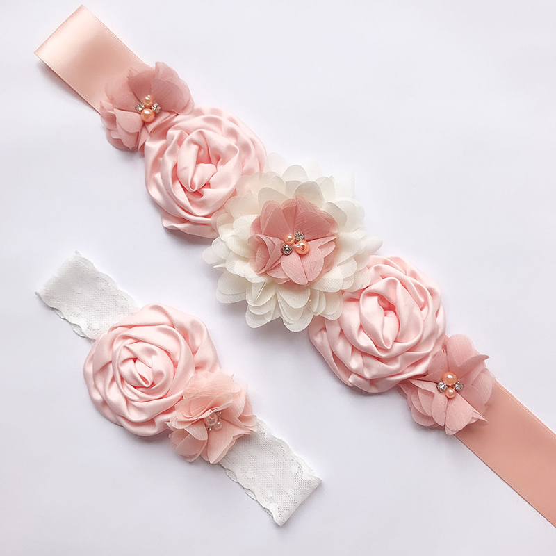 Fashion Luxury Beaded Pearls Handmade Flower Applique Wedding Sashes Bridal Belts For Wedding Dresses