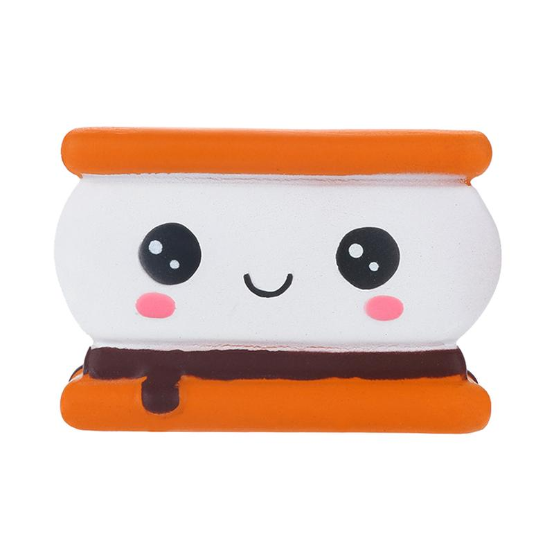 Cute Sandwich Biscuit Shaped Squeezing Slow Rising Toys Stress Relieve Soft Toy Decompression Toys Desktop Decor