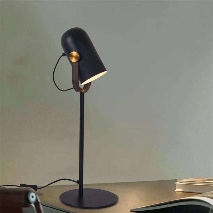Işıklar ve Aydınlatma'ten LED Masa Lambaları'de Avrupa Minimalist Modern masa lambası demir masa ışığı oturma odası yatak odası çalışması için öğrenme lambası kapalı ev aydınlatma armatürleri title=
