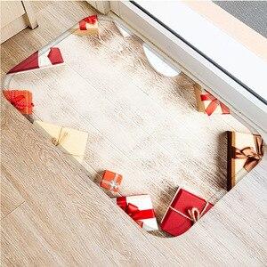 Image 5 - クリスマスカーペットサンタフランネルカーペットカーペットキッチンマット家の装飾さまざまなスタイルクリスマスフロアマット 40 × 60 センチメートル..