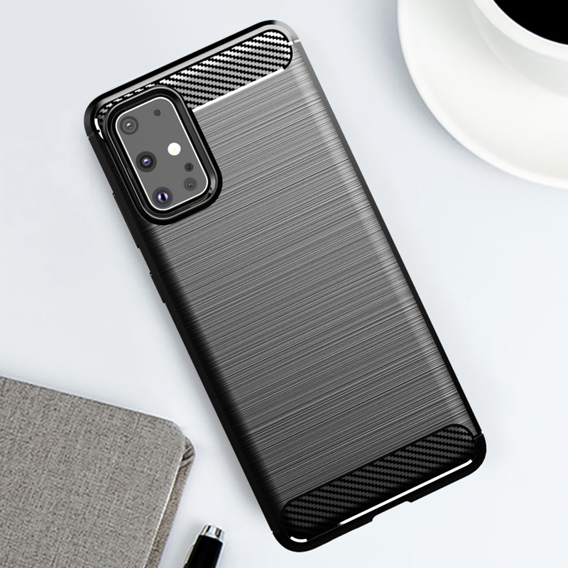For Samsung S20 Case Soft TPU Shockproof Cover Carbon Fiber Brushed Cases For Samsung Galaxy S20+ S20plus S20 Plus Ultra Case
