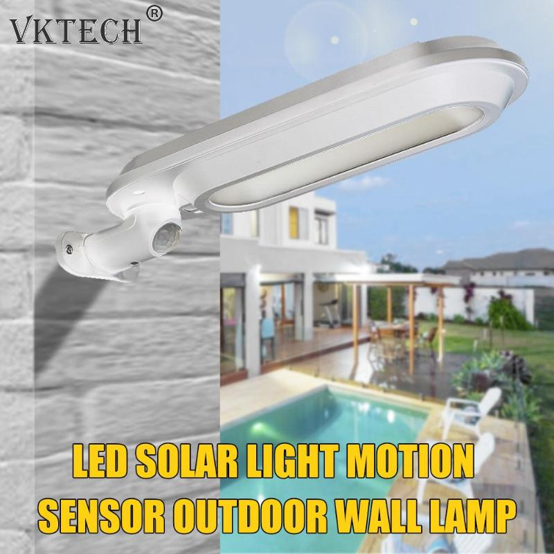 500LM Wireless LED Solar Light Energy Saving Human Body Motion Sensor Courtyard Garden Lamp Street Light Garden Decoration