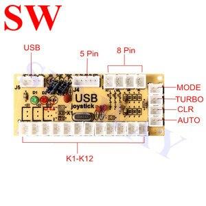 Image 3 - 2 ผู้เล่น Zero Delay USB Encoder สำหรับจอยสติ๊ก/2 x อาเขตจอยสติ๊ก + USB + 32 มม. LED ปุ่ม + เหรียญปุ่ม