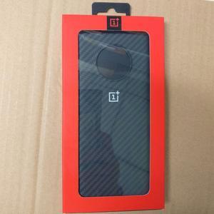 Image 2 - Oryginalny oficjalny OnePlus 7 Pro 7T 7 7T Pro futerał ochronny Karbon Carbon piaskowiec nylonowy zderzak silikonowe etui z tyłu obudowa