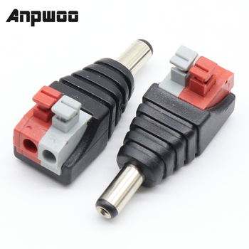 5pcs DC Male +5 pcs Female connector 2.1*5.5mm Power Jack Adapter Plug Connector for 3528/5050/5730 single color led strip - discount item  49% OFF Transmission & Cables