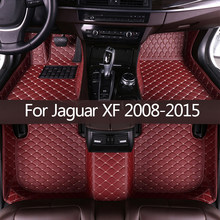 Esteiras do assoalho carro para jaguar xf 2008 2009 2010 2011 2012 2013 2014 2015 personalizado pé almofadas