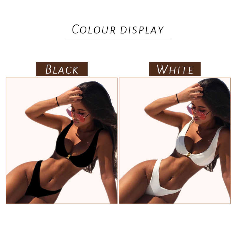 Bikini Split Swimsuit 2020 Fashion Baju Renang Wanita 2 Sepotong Set Wanita Pakaian Renang Pinggang Rendah Bikini Set Pakaian Renang
