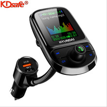 KDsafe 1.8 inch Car MP3 Bluetooth Player QC3.0 Car Charger Quick AUX Interface Voltage Monitor Color Screen Car FM Transmitter