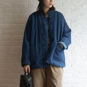 Image 5 - Johnature invierno ocio moda Stand Collar placa hebilla bolsillos grueso Denim chaqueta 2020 nuevo All match cómodo mujeres abrigos