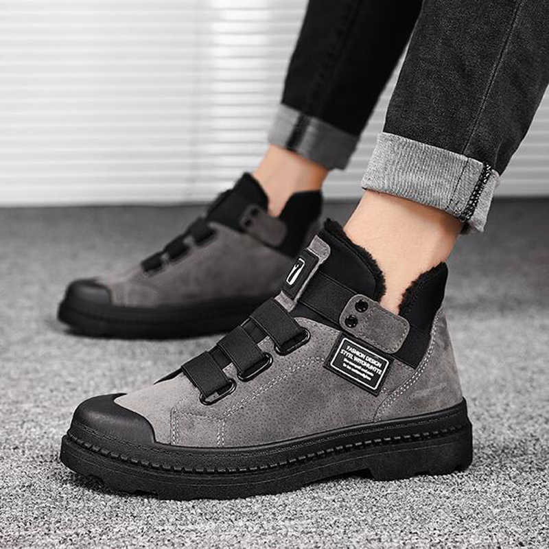 Mannelijke Schoenen Volwassen Enkellaarsjes Voor Militaire Laarzen Pluche Warme Mannen Laarzen Winter Schoenen Mannen Sneakers Winter Laarzen Mannen Schoenen h442